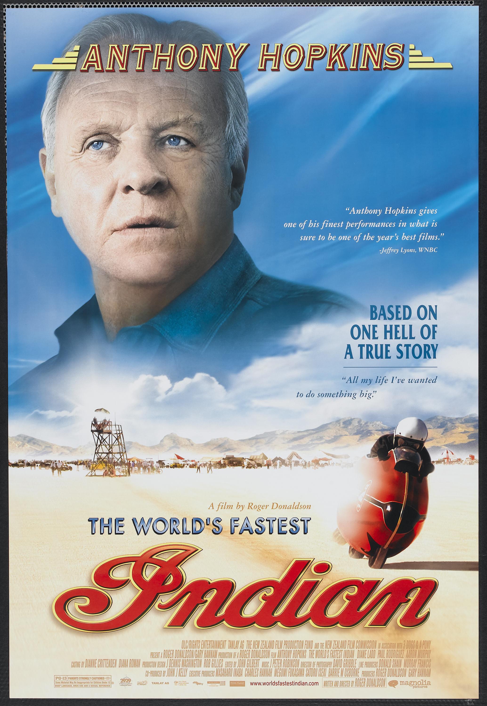 Una Pagina de Cine 1995 The worlds fastest indian - Burt ... Anthony Hopkins
