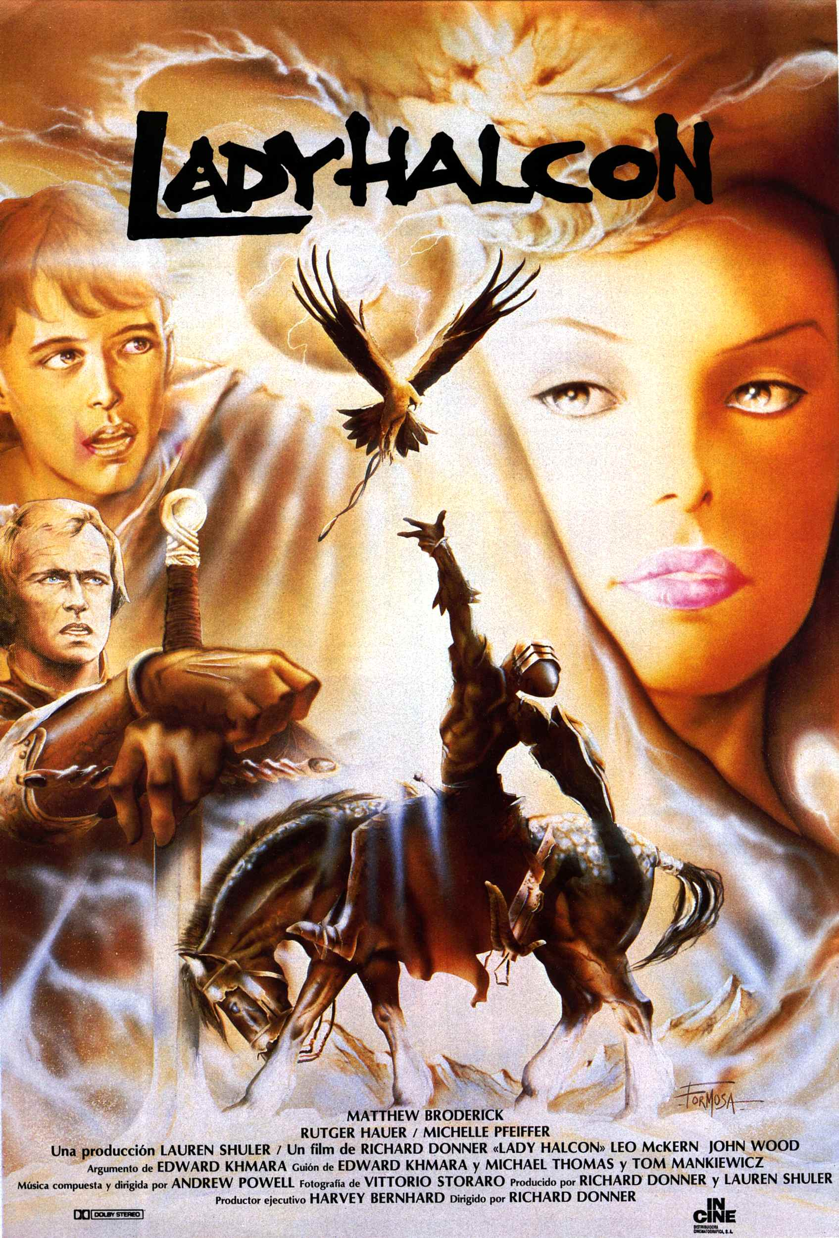 Blu-ray Lady Halcón (Ladyhawke, 1985, Richard Donner ...