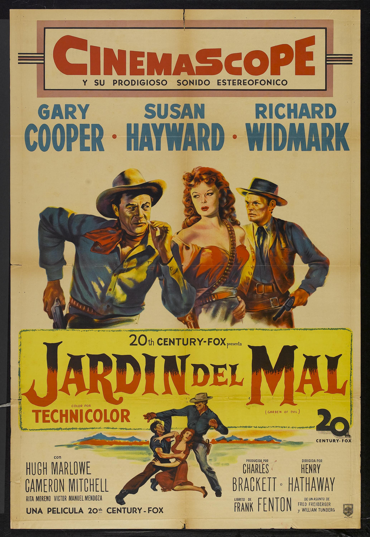 Una pagina de cine 1954 el jardin del diablo arg for Jardines del diablo