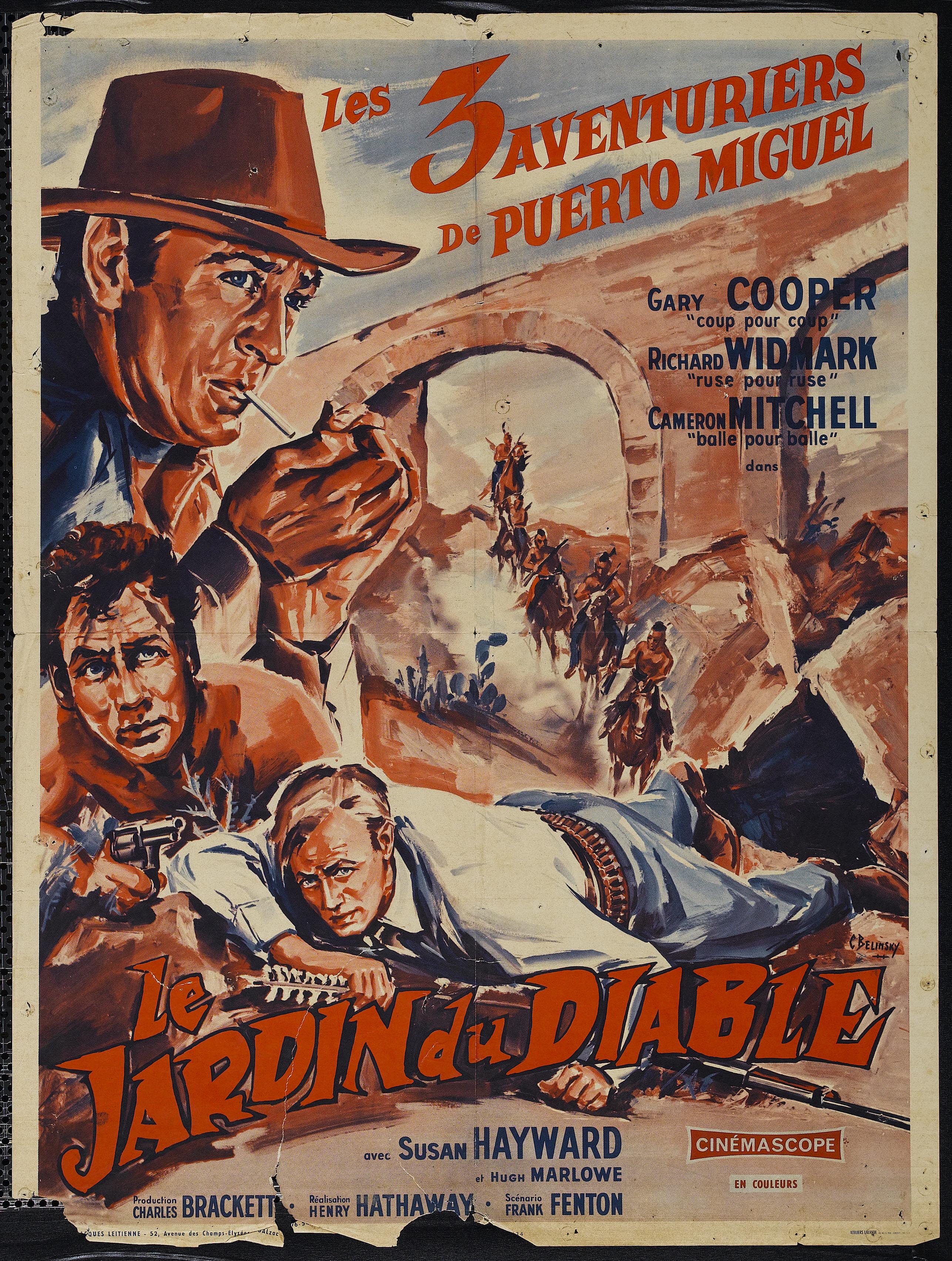 Una pagina de cine 1954 el jardin del diablo fra for Jardines del diablo