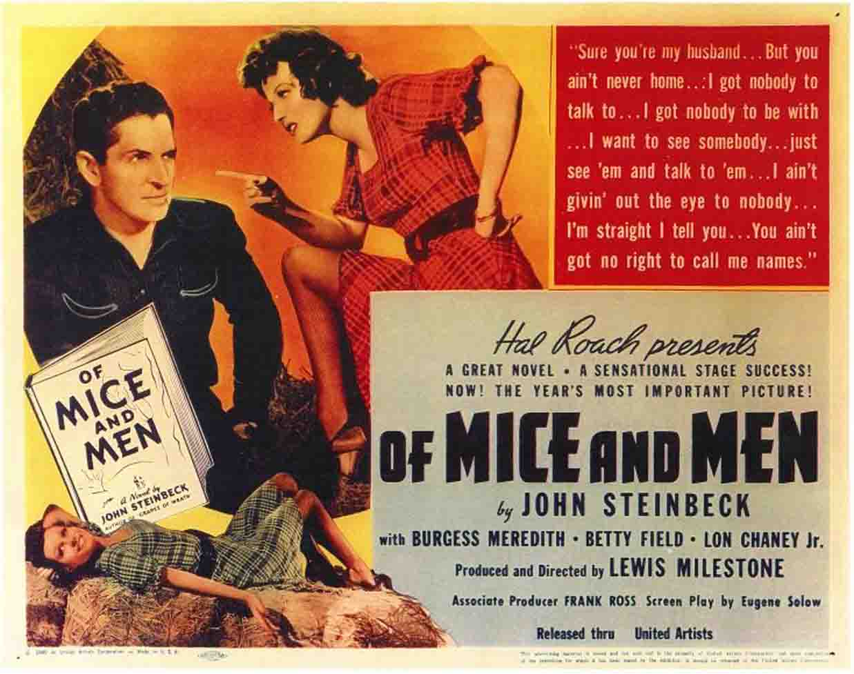 Una Pagina de Cine 1939 Of mice and men - La fuerza bruta ...