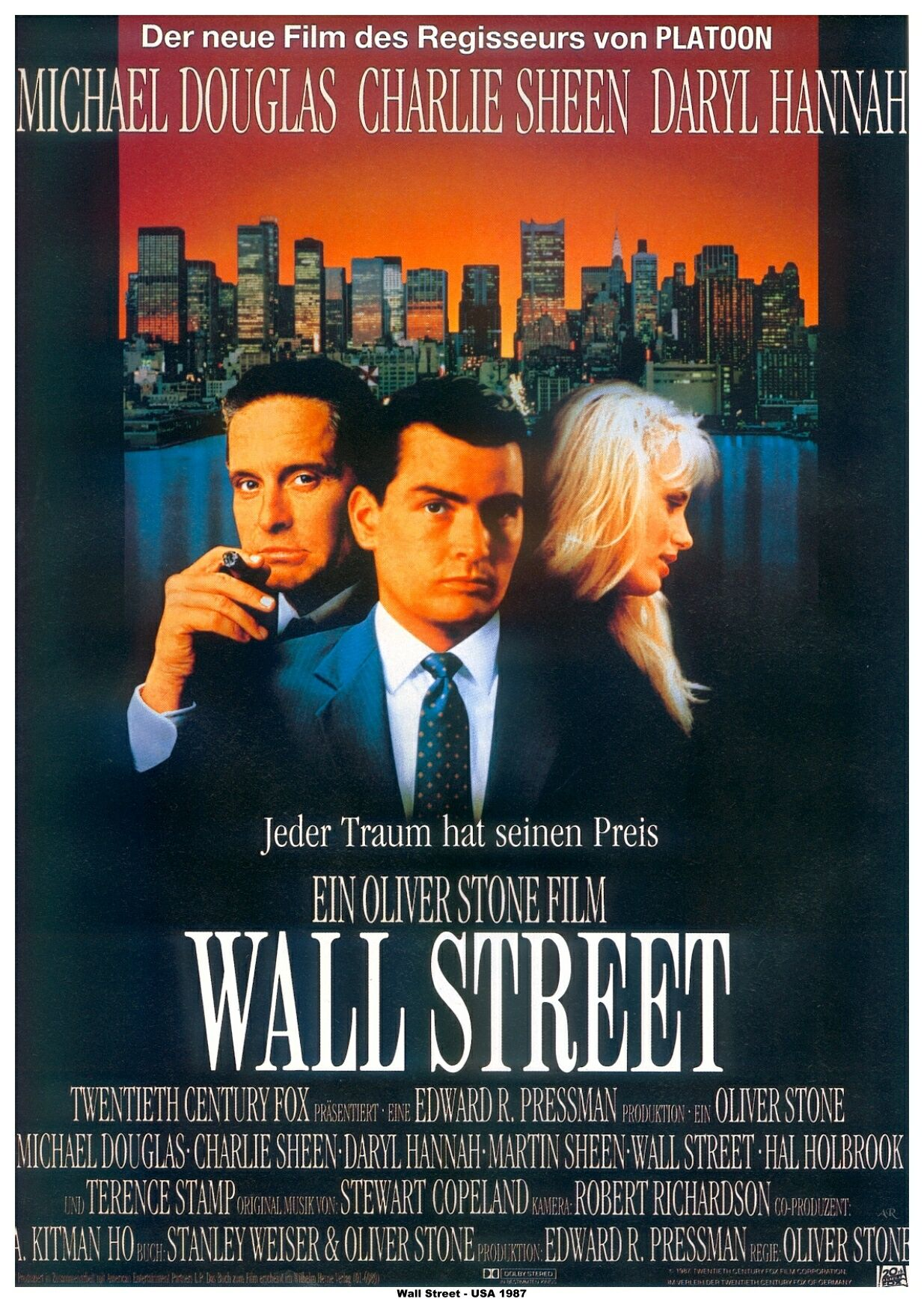 """a review of oliver stones 1987 movie wall street Oliver stone's oscar®-winning """"wall street,"""" which defined an era of excess and   """"wall street"""" originally debuted in cinemas on december 11, 1987, less than   director oliver stone had shot """"wall street"""" earlier that spring and summer, and  the timing of the film's  ant-man and the wasp – review."""